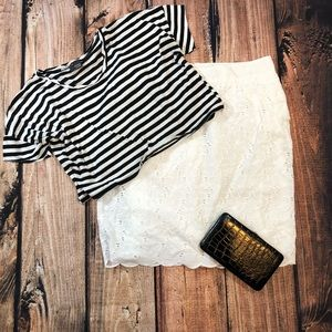 Urban Outfitters sparkle & fade striped top